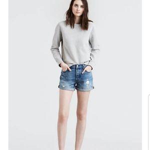NWT Levi's Premium 501 Shorts Mid Rise